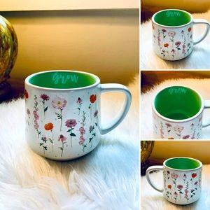 "🦋2/$10 3/$15 4/$18 5/$20 Floral Plant ""Grow"" Ceramic Coffee Mug"